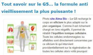 silicium organique G5 LLRG5 almabio